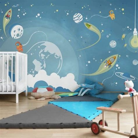 Kinderzimmer Junge Weltraum kinderzimmer deko weltraum