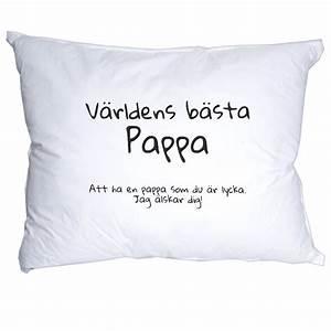 Världens bästa pappa kudde