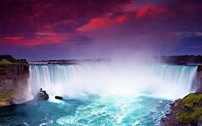 Niagara Falls Night Waterfalls Water Canada Dusk