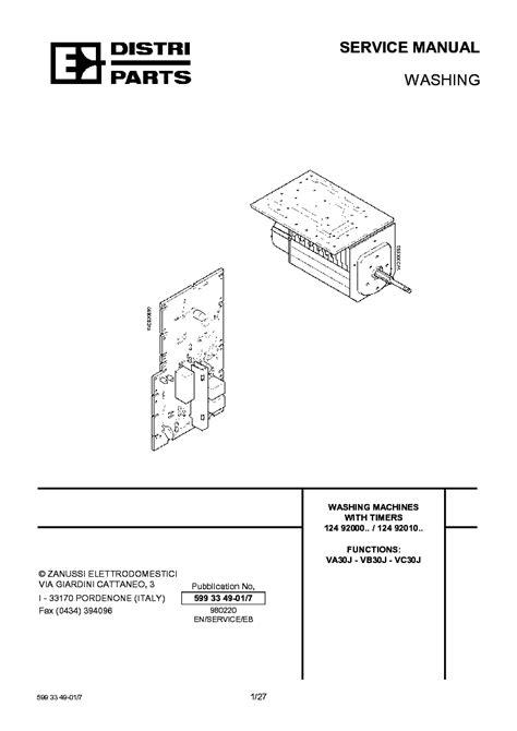 Zanussi Flsc Wiring Diagram Service Manual Free