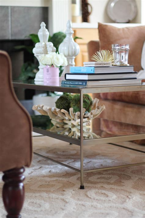 How to style a coffee table. Styling A Glass Coffee Table | Style Waltz