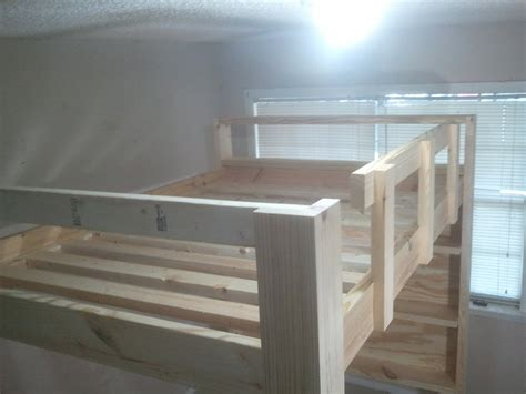 how to build a full size loft bed with desk full size loft bed february 2013 by jsb lumberjocks