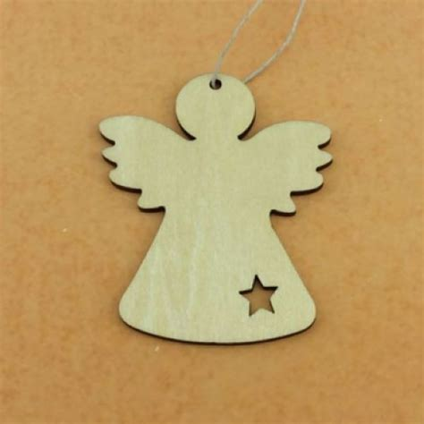 laser cut wooden angel wood christmas angel ornaments