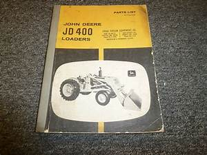 John Deere 400 Tractor Loader Parts Catalog Manual Manual