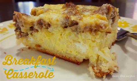 breakfast casserole recipe raising dick and jane diner style breakfast casserole recipe