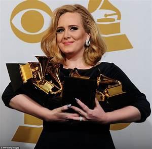 Grammys 2012 winners: Adele wins SIX Awards as music world remembers Whitney Houston | Daily ...  onerror=