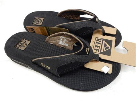 reef fanning mens size 10 reef mens sandals fanning black brown size 10 ebay