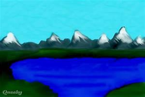 How to draw snowy mountain