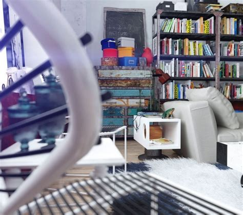 Colorful And Funky Interiors Visualized by Creative Storage 600x532 Jpg