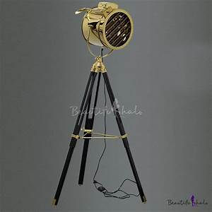 spotlight floor lamp 1 light floor lamp gold lamps floor With black tripod spotlight floor lamp gold inner