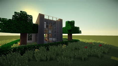 simple modern house minecraft map