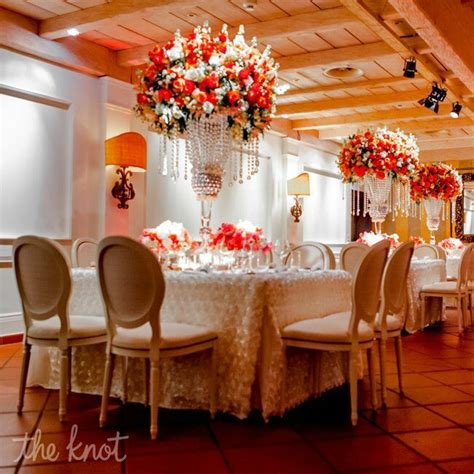 Tall Coral Centerpieces