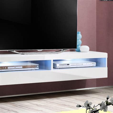 meuble tv mural design quot fly iv quot 160cm blanc