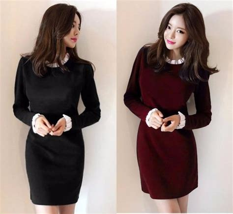Wk100556 Baju Import jual new mini dress gaun pesta baju kerja wanita korea