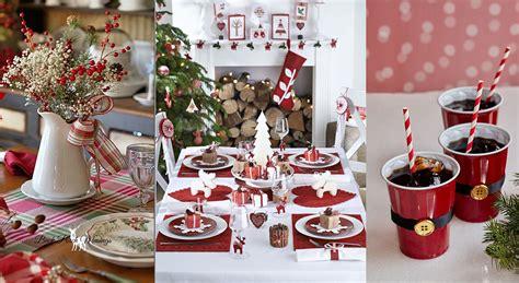 deco de table noel rouge noel rouge  blanc deco