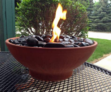 diy tabletop fire bowls  garden glove