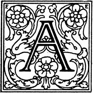 decorative letter a clipart etc With decrative letters