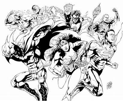 Justice League Coloring Pages Pencils Inks Dc