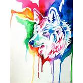 Rainbow Wolf Commission 2 by Lucky978 on DeviantArt