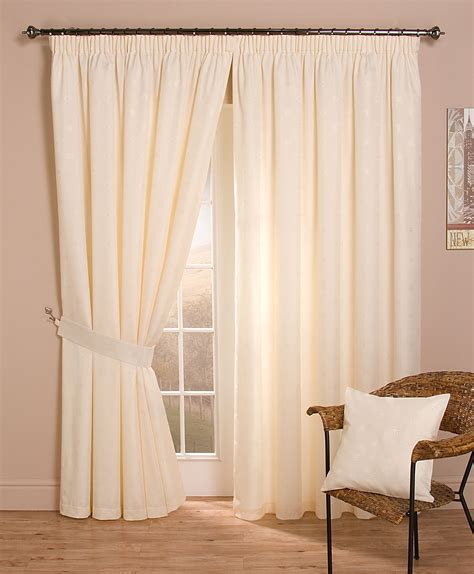 Cheap Full Lined Tape Top Pencil Pleat Jacquard Curtains
