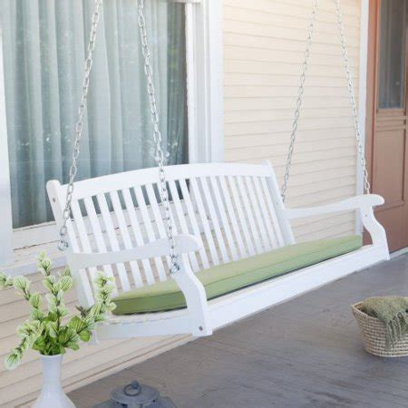 white porch swing coral coast pleasant bay white curved back porch swing