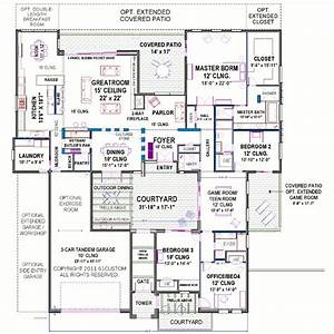 Modern courtyard house plan for Courtyard home plans