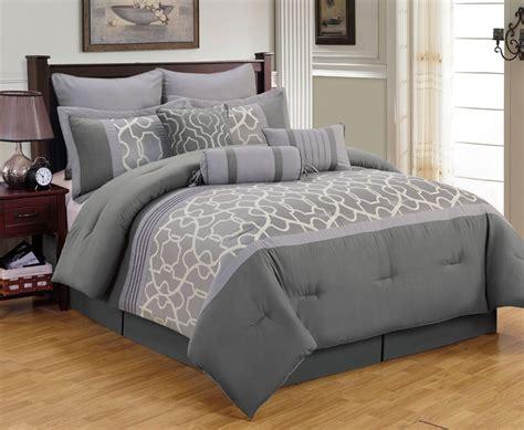 Grey King Comforter Sets Modern Look Bedroom With King