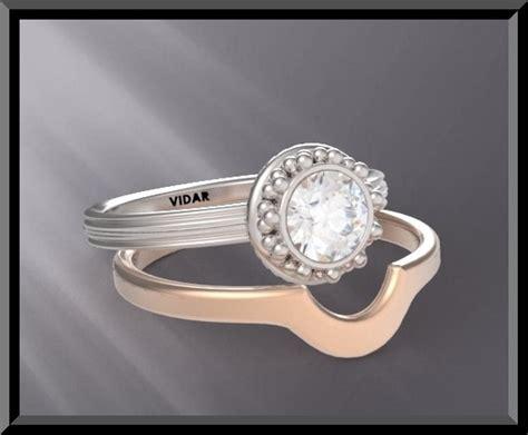 two tone diamond wedding ring vidar jewelry unique custom engagement and wedding rings