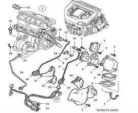 similiar 2008 saab 9 5 motor diagram keywords sensor location 2003 saab 9 3 engine diagram saab 9 5 pcv valve egr
