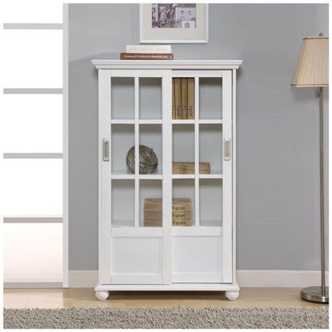 White Bookshelf With Doors by Top 30 Collection Of White Bookcases And Bookshelfs