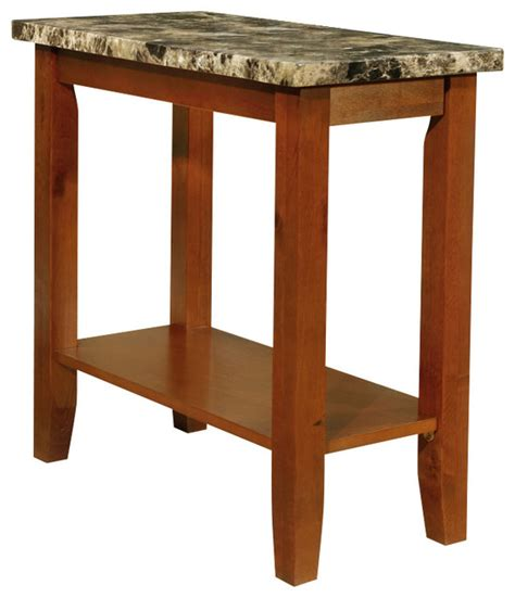 black end tables with storage walnut black chairside sofa end accent table faux marble