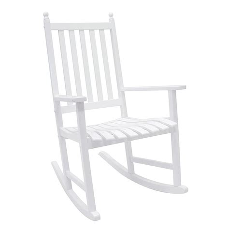 shop achla designs white wood slat seat outdoor rocking