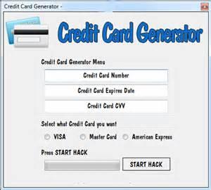 Fake Credit Card Number Generator