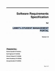 srs for student database management system With document management system requirements specification