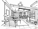 Coloring Living Pages Drawing Bedrooms Interior Printable Line Supercoloring Books Getdrawings Paper sketch template