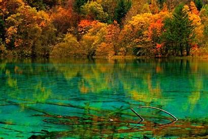 Jiuzhaigou China Turquoise Lake National Park Crystalline