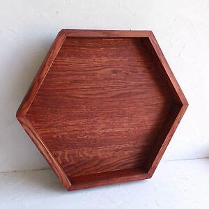 Large Serving Tray For Ottoman by Large Hexagon Wood Serving Tray Wooden Ottoman Tray Coffee