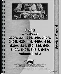 Ford 340b Industrial Tractor Service Manual