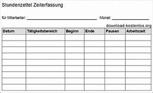 Downloadzeit Berechnen : stundenzettel vorlagen download f r word pdf und excel kostenlos ~ Themetempest.com Abrechnung