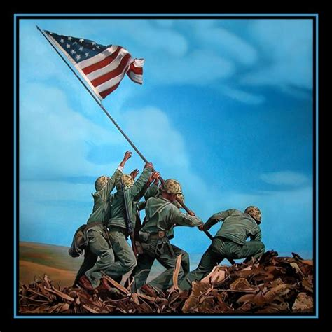 raise the siege iwo jima flag raising the original painting is on