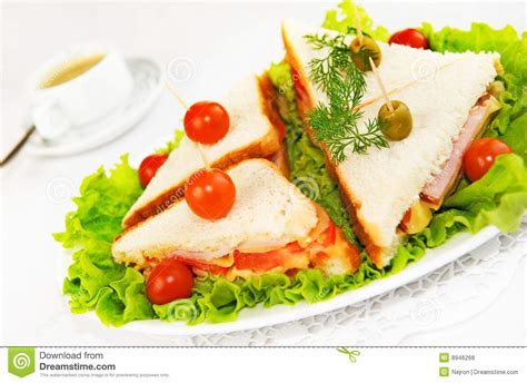 canape chesterfild home made canape sandwiches stock photo image 8946268