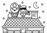 Piet Saint Roof Coloring Kleurplaat Sint Dak Nicolas Tejado Para Colorear Dibujo Dach Nikolaus Op Coloriage Nicholas Fouettard Toit Auf sketch template