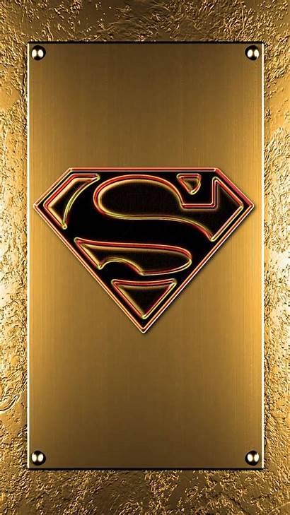 Superman Gold Zedge Iphone Symbol Phone Wallpapers
