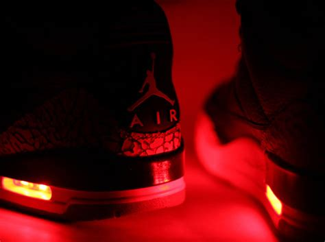 nike jordan light up air jordan iii quot light up quot customs by evolved footwear