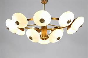 Grand Lustre Design : grand lustre moderne italien rond 12 opalines ovo de style ~ Melissatoandfro.com Idées de Décoration