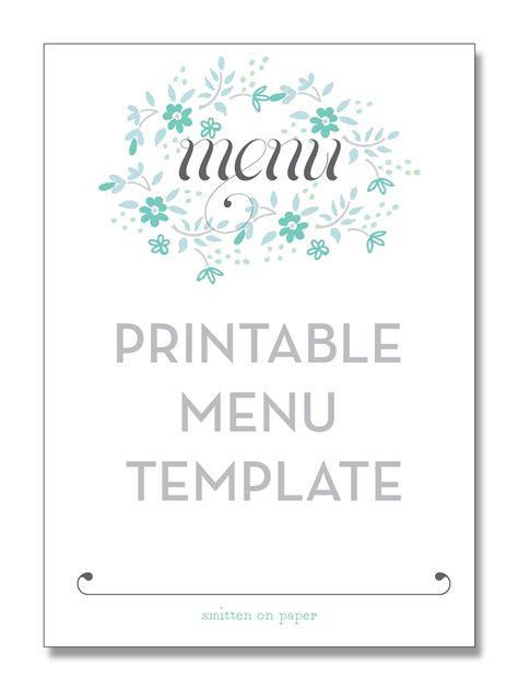 freebie friday printable menu  printable menu