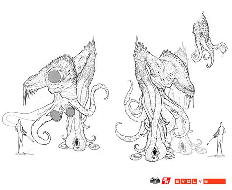 Early Kraken Sketches 2 By Nickdespain