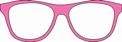 Glasses Clipart Pink Eyeglasses Clip Kacamata Vector