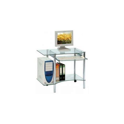 petit bureau en verre bureau informatique en verre bureau informatique design