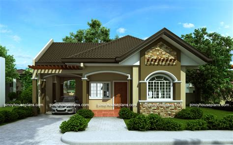 Bungalow House Designs Series, Php2015016  Pinoy House Plans
